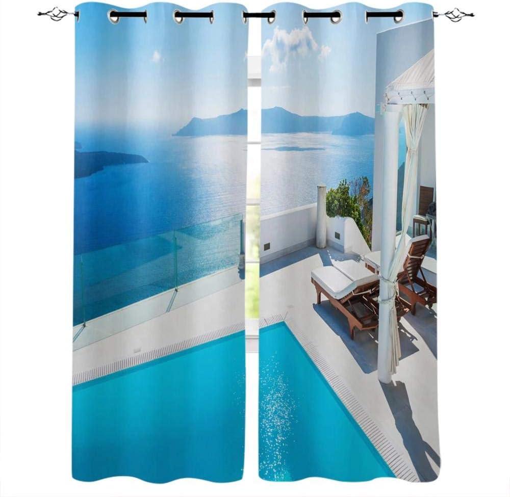 Zzmdmn Sea Building List price Swimming Pool Japan Maker New Blue Treatments Sky Window Cur
