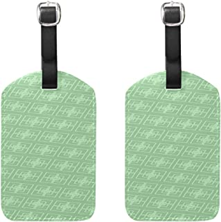 The Design Pattern Pattern Pu Leather Id Tags Business Card Holder Labels Baggage Suitcase Luggage Tags Travel Accessories