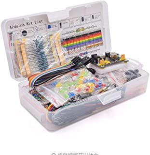 Meiyiu Electronics Component Basic Starter Kit with 830 Tie-Points Breadboard Cable Resistor Capacitor LED Potentiometer B...