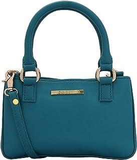 Lapis O Lupo Women's PU Azeruel Small Handbag (Tourquise, LLHB0035TQ) Multi-functional pocket design