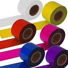 ポンポン用ロールテープ(5cm×100M巻)(プラスチック)チア・バトン・応援・コンサートに便利なカラーテープ (レッド)