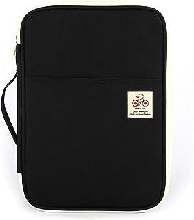 JAKAGO File Portfolio Waterproof A4 Document Bag Passport Tablet Organizer Portable Planners Pouch Business Travel Portfol...