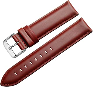 Leather Watch Band Strap Replacement 13 14 16 17 18 19 20mm Calfskin Watch Armband Braclet Optional Color
