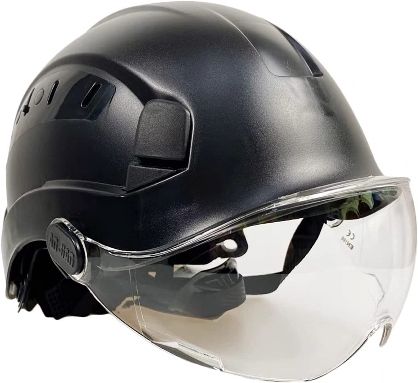 LOOFU Import Industry No. 1 Safety Hard Hat with and Clear Smoked Visor