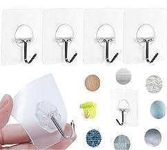 Zelfklevende haken verwijderbare zelfklevende wandhangers, Koksi waterdichte zware duidelijke haken voor badkamer keuken, ...