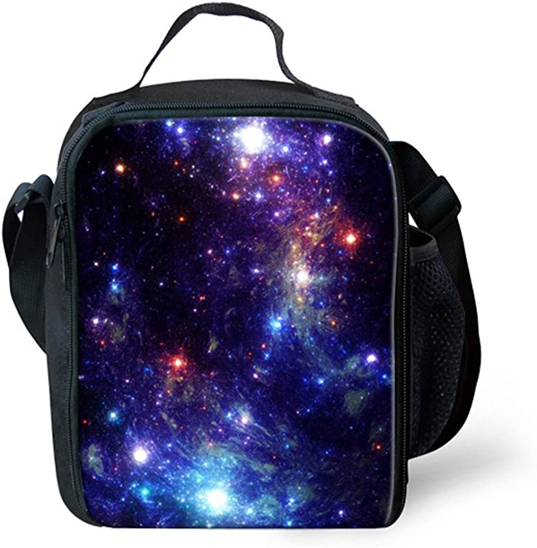 Galaxy Insulted Lunch Bags Tote For Kids Thermal Travel Picnic Cooler Picnic Bag