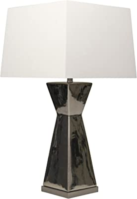 "Sagebrook Home 50203-03 Ceramic 34"" Hour Glass Table Lamp, Silver"
