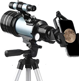 Telescope for Kids and Beginners, 70mm Aperture 300mm Astronomical Refractor Telescope, Tripod and Finder Scope-portable T...