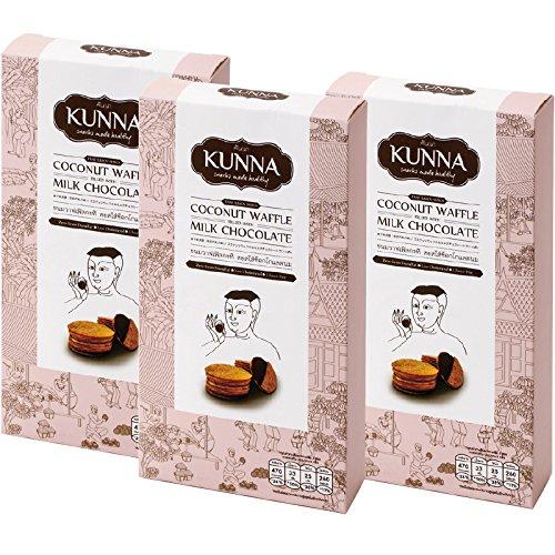 タイ 土産 ココナッツワッフル ミルクチョコ味 3箱セット (海外旅行 タイ お土産)