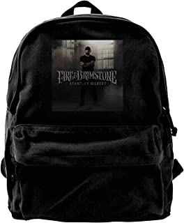 JohnBHaws Brantley Gilbert Fire & Brimstone Lightweight Canvas Backpack College Student Rucksack Laptop Backpack,Daypack for Travel Outdoor Camping