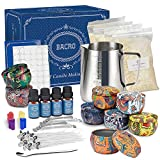 Nature's DIY Candle Making Kit by Bacro - Natural Beeswax with 8 Scented Candles, Easily Create DIY Starter Set with Bees Wax, Fragrance Oil, Wax Melting Pot, Cotton Wicks, 8 Tins & More (10)