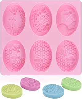 UG LAND INDIA 6 Cavity 3D Honeybee Silicone Molds, Honeycomb Molds for Making Soap Mold, Rectangle Cake Baking Mold, Choco...