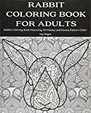 Rabbit Coloring Book for Adults: Rabbit Coloring Book Featuring 40 Paisley and Henna Pattern Coloring Pages (Animals) (Volume 3)