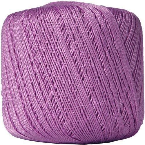 Threadart 100% Pure Cotton Crochet Thread - Size 10 - Color 20 - LILAC -2 sizes 27 colors available