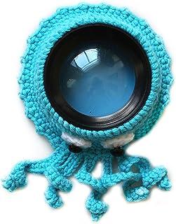 Camera Buddie, Baby Fotografie Requisiten Kamera Objektiv Dekoration Shutter Huggers niedlich gestrickt Tier Spielzeug Posing Requisiten Linse Zubehör für Neugeborene Baby, 3, Free Size
