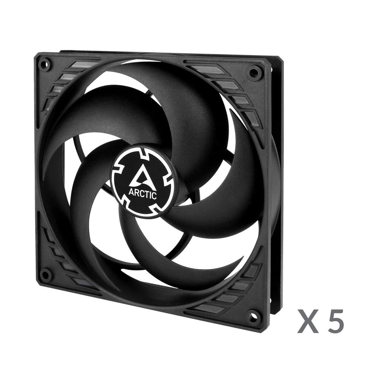 ARCTIC P14 PWM PST (5 piezas) - 140 mm Ventilador de Caja para CPU con PWM Sharing Technology (PST), Motor Muy Silencioso, Computadora, 200-1700 RPM - Negro/Negro: Amazon.es: Informática