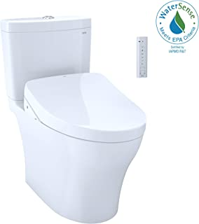 TOTO MW4463056CEMG#01 WASHLET+  Aquia IV Two-Piece Elongated Dual Flush 1.28 and 0.8 GPF Toiletwith S550e Electric Bidet Seat, Cotton White