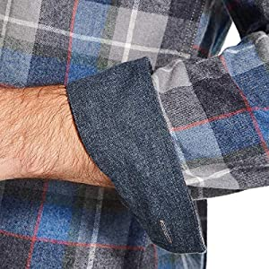 Weatherproof Vintage Mens Flannel Shirt (Royal Plaid, Large)