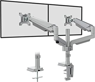 WALI Premium Dual LCD Monitor Desk Mount Fully Adjustable Gas Spring Stand for Display up to 32 inch, 19.8lbs Weight Capac...
