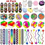 44 Pc Party Favor Toy Assortment for Kids Party Favor, Birthday Party, School Classroom Rewards, Carnival Prizes, Pinata Fillers, Treasure Chest, Prize Box Toys, Goody Bag Fillers