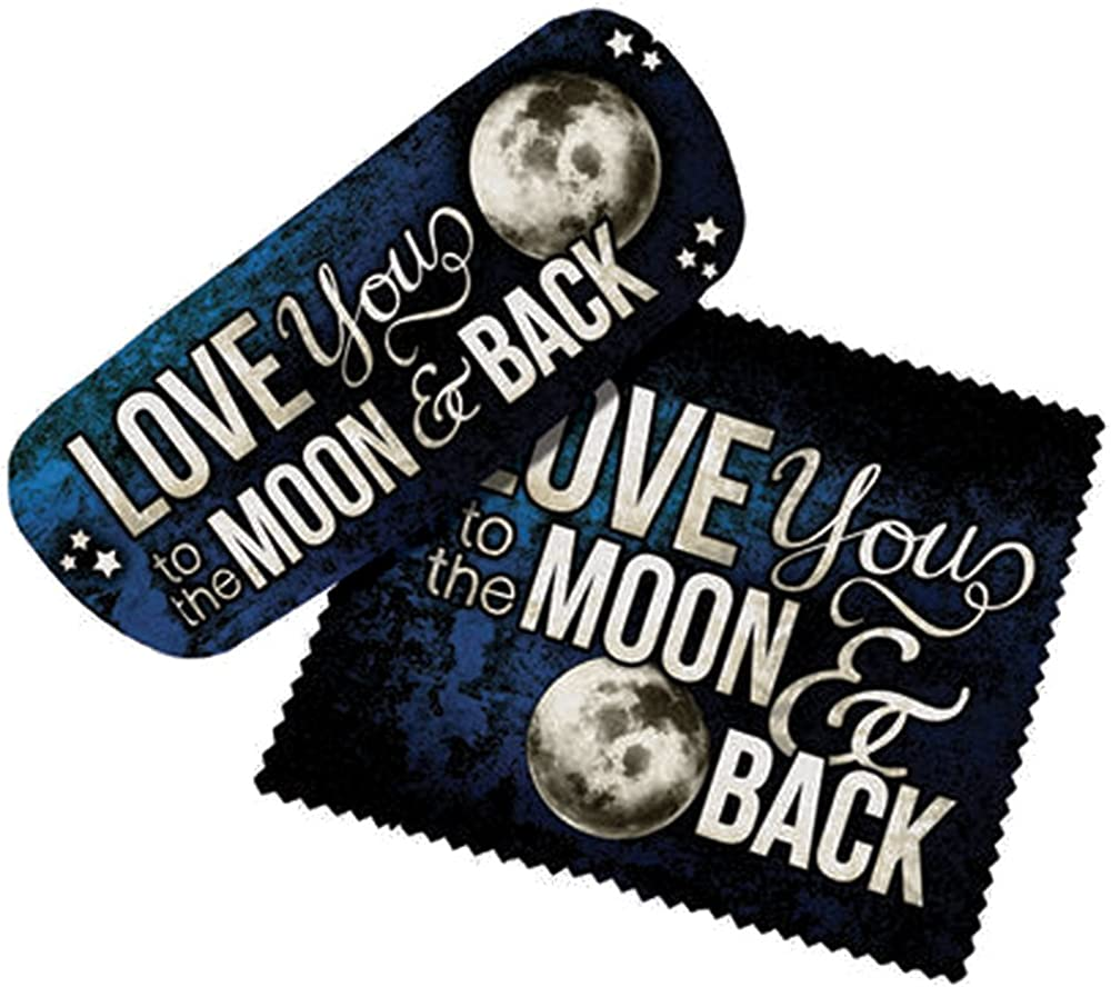 Spoontiques Eyeglass Case with Lens Cloth (I Love You to the Moon)