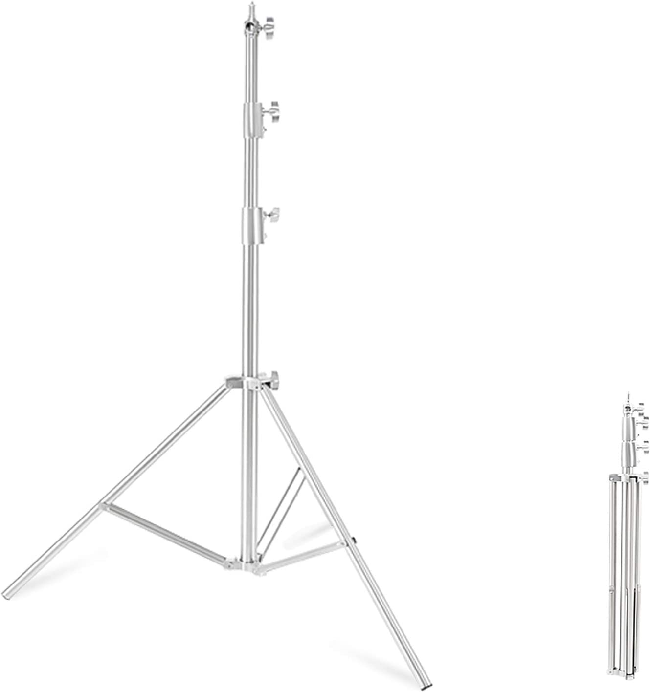 Heavy Duty Light Stand 9.18ft f Steel 2.8m Free Shipping Year-end gift New Stainless