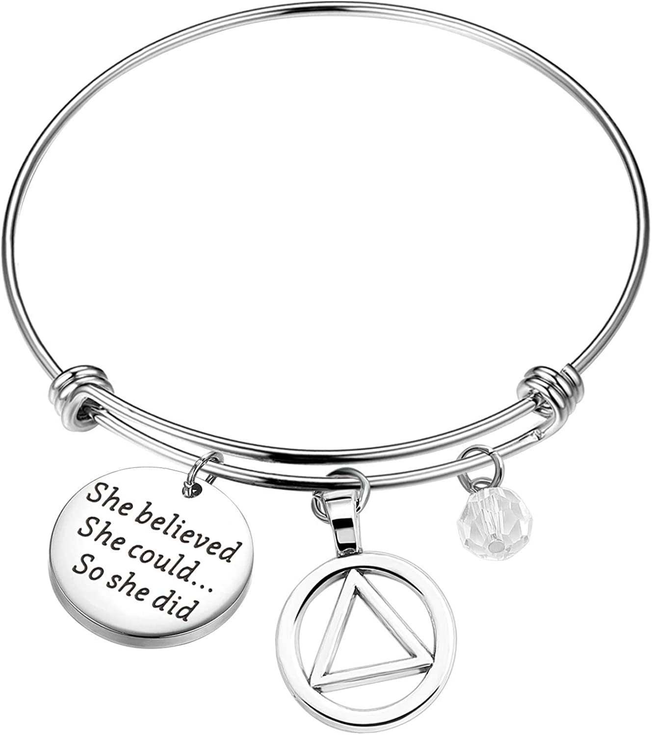 Recovery gift Max 61% OFF Gift Sobriety AA Sober Br Jewelry