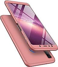 جراب COTDINFORCA A7 2018 / A750، جراب 3 في 1 رفيع للغاية من البولي كربونات الصلب فائق النحافة وفائق النحافة 360 درجة حماية من الصدمات لهاتف Samsung Galaxy A7 (2018).