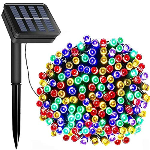 LiyuanQ Solar String Lights Outdoor, Upgraded 200 LED Solar Fairy Light Waterproof Garden Light Christmas Tree Decorative Ornaments Gifts for Thanksgiving Wedding Party (Multicolor) [Energy Class A++]
