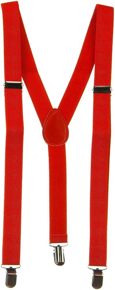 Plain Color Suspender - Red OSFM