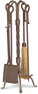 """Pilgrim Home and Hearth Pilgrim Home And Hearth 18008 Traditional Fireplace Tool Set, 18008, Burnished Bronze, 31"""" H/22 lb."""