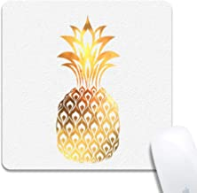 Rinda Customized Square 200x200x3mm Mouse Pad, Gold Pineapple, Non-Slip Rubber Gaming Mousepad, Durable & Comfortable Mouse Mat with Stylish Pattern