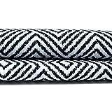 McAlister Textiles Acapulco - Muestras de tela en blanco y negro, material de decoración abstracta para manualidades, accesorios y cortinas – Muestras de retales de 10 x 20 cm