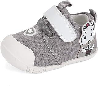 MASOCIO Zapatillas Bebé Niño Niña Primeros Pasos Zapatos Recién Nacido con Suela Goma Antideslizante