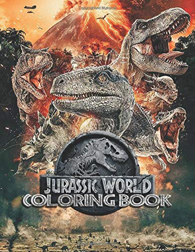 Jurassic World Coloring Books: Over 40+ Coloring Pages of Jurassic World To Inspire Creativity and Relaxation. Perfect Gifts for Adults and Kids
