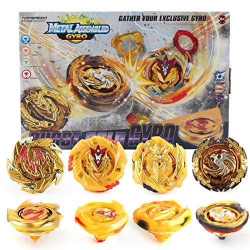 Bey Battle Burst Gyro Attack Blades Metal Fusion Evolution Combination with Starter Arena, Launchers Grip & Includes 4 Battling Top