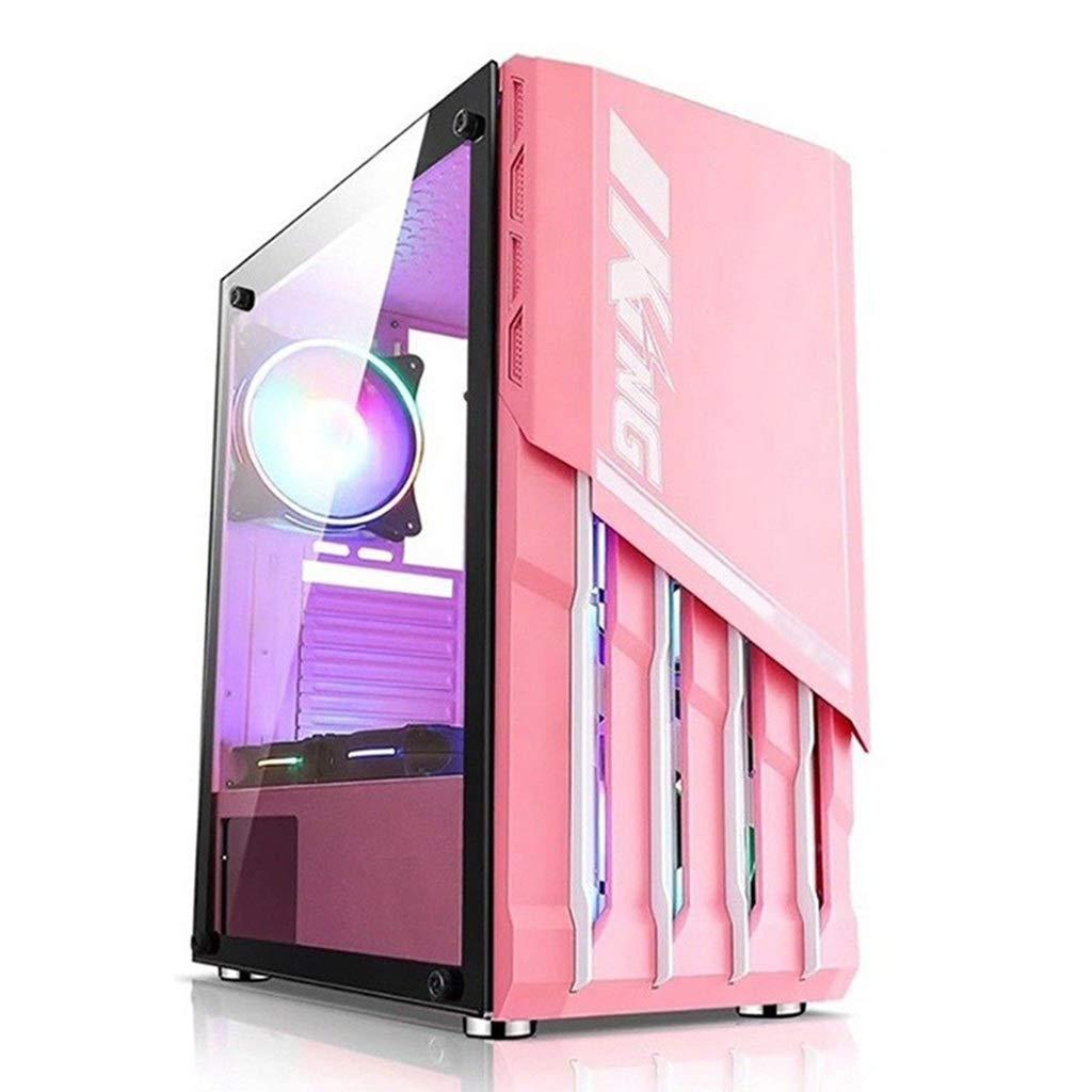 WSNBB Gaming Caso, A Mediados De La Torre De La Caja del Ordenador De Juegos De PC ATX, Rosa Diseño Mejorado, Especialmente for Los Entusiastas De Los Deportes Electrónicos Femeninos: Amazon.es: Hogar