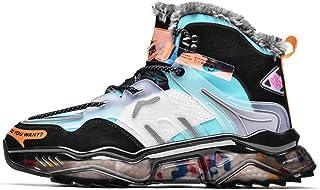 Heren Snowboots Fluweel Warme Outdoor Paarse Schoenen Platform Sneakers Mode Hoge Taille Katoenen Schoenen Geschikt Voor H...