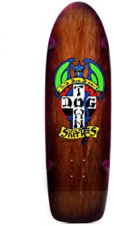 Dogtown Old School Skateboard Deck OG Red Dog Rider Brown Stain 9
