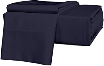 Precious Star Linen Luxury Hotel-Bedding 100% Egyptian Cotton - 1000 Thread Count Hypoallergenic 4 Piece Sheet Set Fits Mattress Up 16'' to 18'' Deep Pocket King (76'' x 80'')