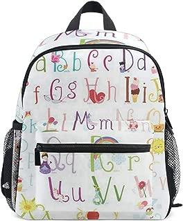 Cute Alphabet Letters School Backpack for Girls Kids Elementary School Bag Mini Backpacks