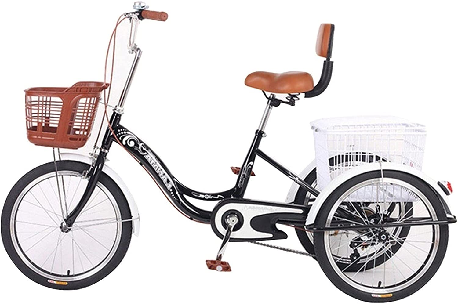 ZCXBHD Adult Lowest price challenge Tricycles 1 Speed 67% OFF of fixed price Trikes 3 Inch 20 Wheel Bike
