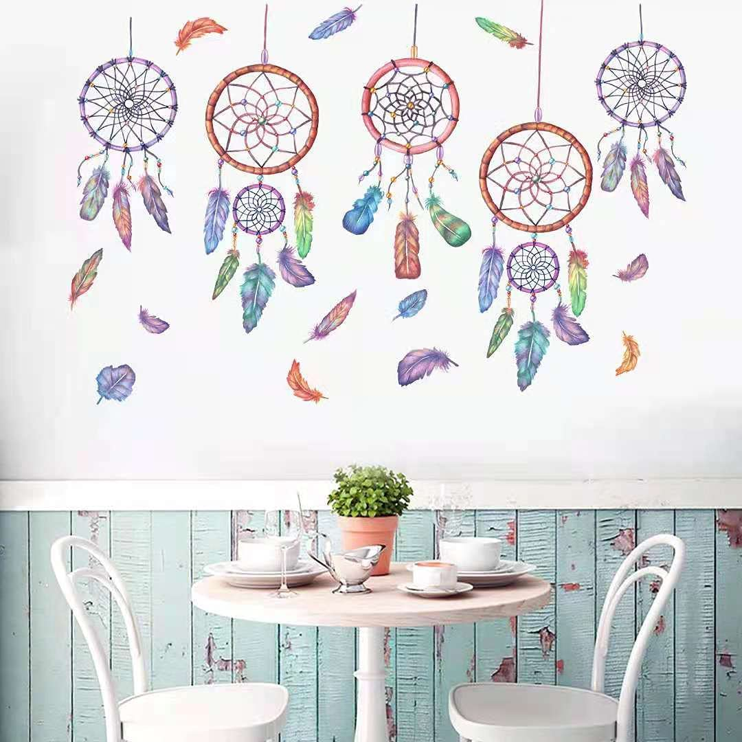 SaxSauly Wall Sticker Mural High quality - Chimes Feathers Wind Super intense SALE Creativ