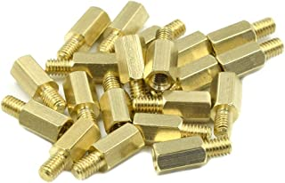 33mm Length, Female 6mm OD Pack of 5 Hex Standoff M4-0.7 Screw Size Stainless Steel