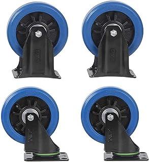 4 stuks meubelwielen, hoge elasticiteit universeel wiel, Trolley Flatbed Truck Industry Castor Wielen, Vervang accessoires...