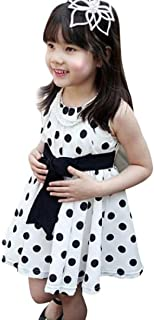 Moika Baby Girls' Dresses, 2-7 Years Old, 1 Piece Children's Clothing Polka Dot Girls Chiffon Summer Dress