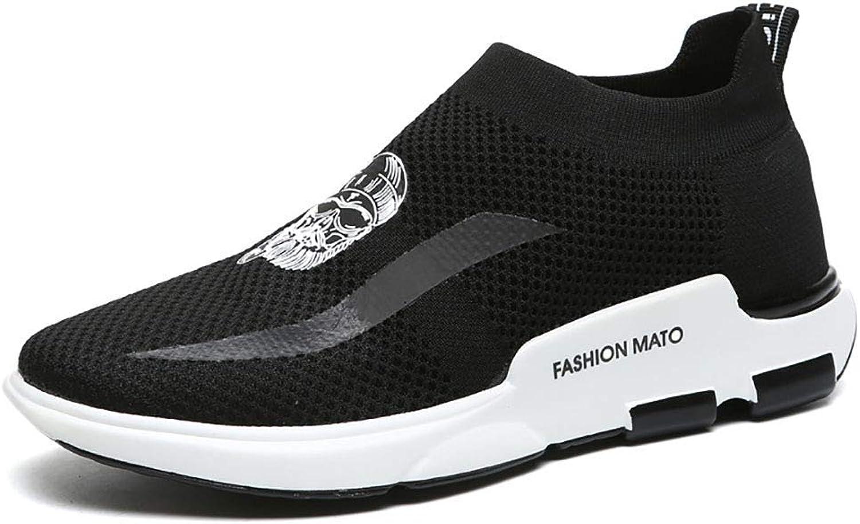 ZHRUI Men's Sports shoes Breathable Mesh Casual shoes Non-Slip Wear-Resistant Outdoor shoes (color   Black, Size   EU39 UK5.5)