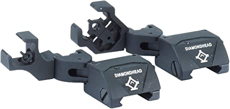 Diamondhead USA D-45 Diamond Front and Rear Combat Sights with Integrated Sighting System, Black