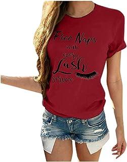 Qians Better Tate Then UGLYWomen's Summer Casual Letter T-Shirt (S-3XL)