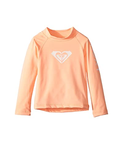 Roxy Kids Whole Hearted Long Sleeve Rashguard (Toddler/Little Kids/Big Kids) (Souffle) Girl
